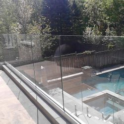 pool glass railings