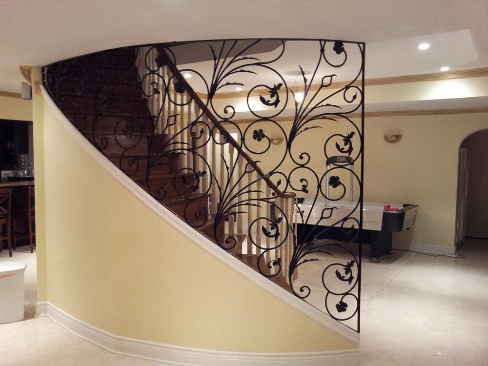 custom staircase with luxury railings decor