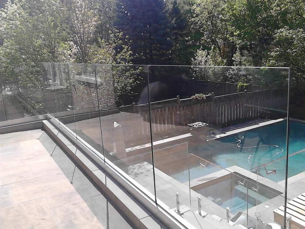 glass railings in second floor
