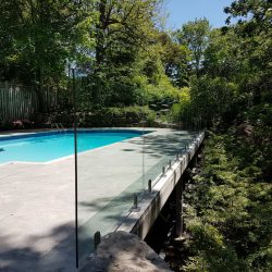 Photo of Glass Railings Near a pool