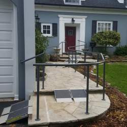 side way path railings