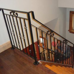 Photo of Steel Railings Painted in Brown