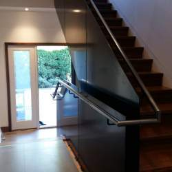 Indoor black Glass Railings