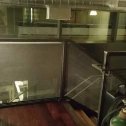 Glass Railings with metal frame