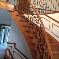 indoor railings with custom decor