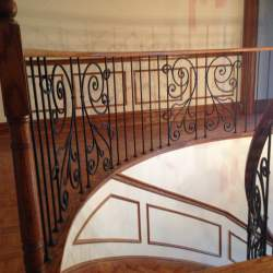 custom indoor railings with luxury staircase