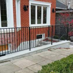 basement staircase outdoor railings