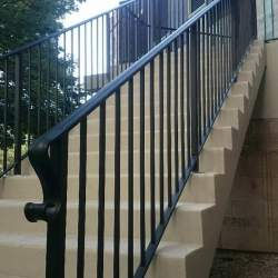 close up photo of steel railings