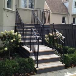 black steel outdoor-railings image