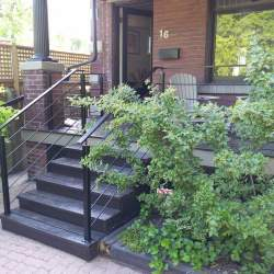 front porch black outdoor railings