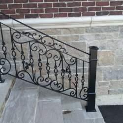 custom steel outdoor-railings