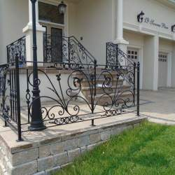 photo of outdoor railings