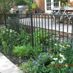 outdoor railings in the backyard