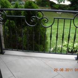 front porch Wrought iron railings image