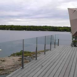 outdoor glass railings image