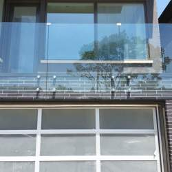 second floor window safety glass railings