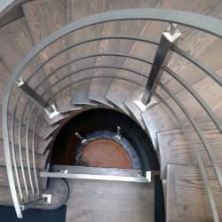 round stainless steel railings
