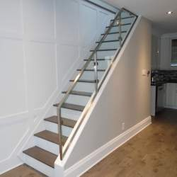 modern stainless steel stairs