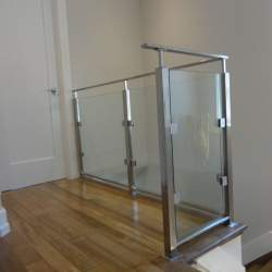 second floor safety stainless steel railing