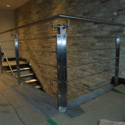 black stainless steel railings
