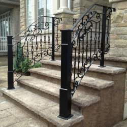 porch outdoor iron railings
