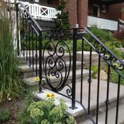 Wrought iron railings image
