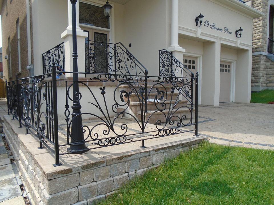 unique iron railings image