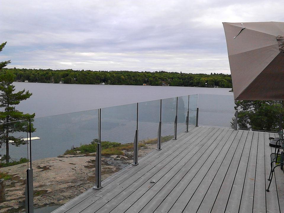 Balcony glass railings image