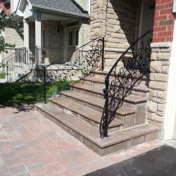 exterior porch with wrought iron railings image