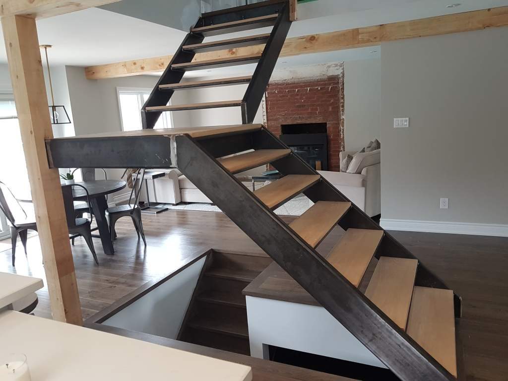 Custom made stairs and railings