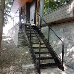 Outdoor of Steel railings and stairs